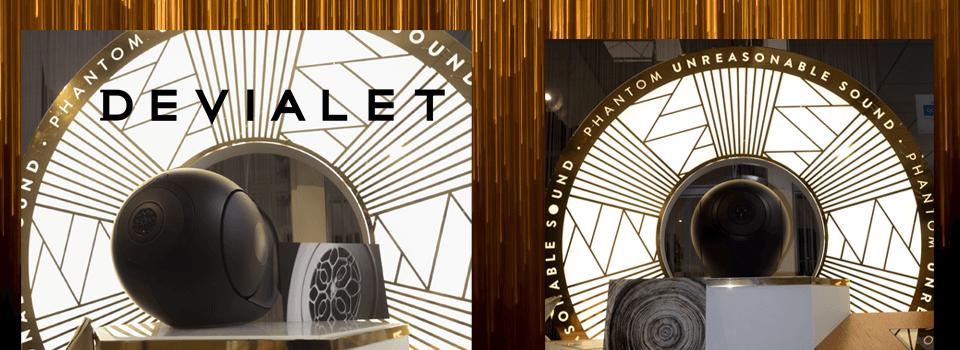 Présentation des PHANTOM dans notre boutique, toute la collection Devialet disponible à l'écoute !